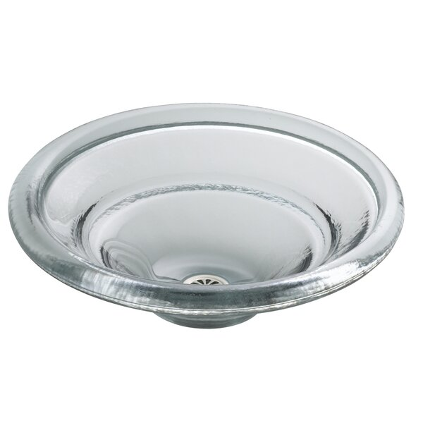 Spun Glass Circular Vessel Bathroom Sink by Kohler