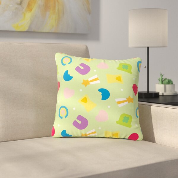 Charms of Luck Outdoor Throw Pillow by East Urban Home