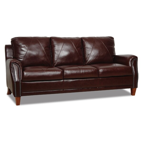 Austin Leather Sofa by Williston Forge