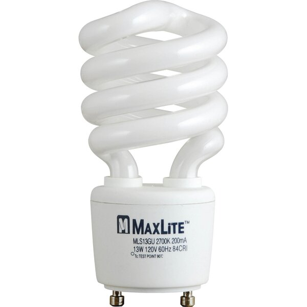 Spiral Fluorescent Bulb in Warm White by Progress Lighting