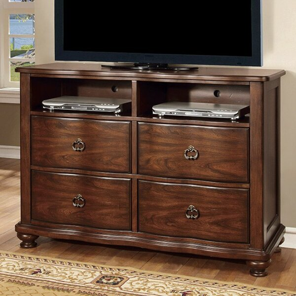 Read Reviews Rosso Traditional Striking Media 4 Drawer Chest