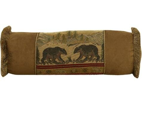 Grotto Bear Bolster Pillow by Loon Peak