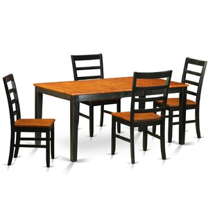 Pillar Traditional 5 Piece Wood Dining Set By August Grove