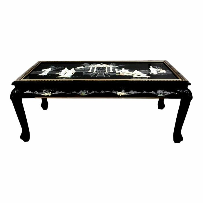 Mother Of Pearl Coffee Table With Claw Feet