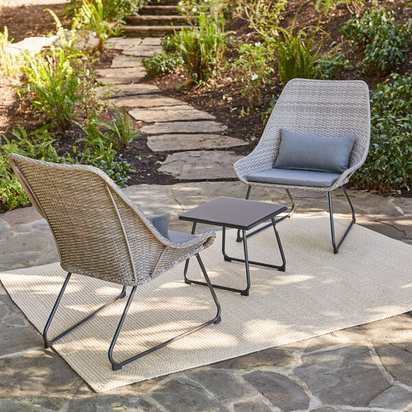 Jenkins 3 Piece Seating Group with Cushions by Bungalow Rose