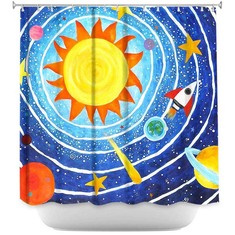 Solar System VII Shower Curtain