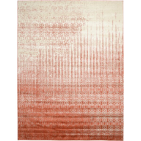 Dungan Red Area Rug by Mercury Row