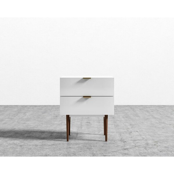 Blaze 2 Drawer Night Stand by Corrigan Studio