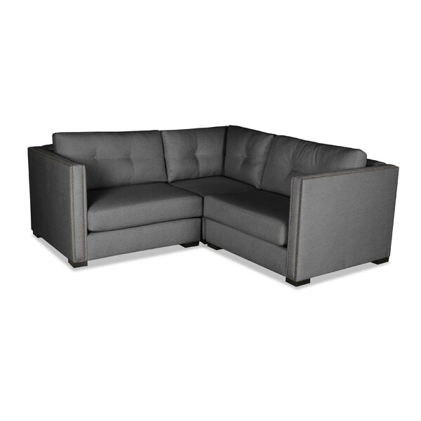 Timpson Buttoned Right and Left Arms L-Shape Mini Modular Sectional by Latitude Run
