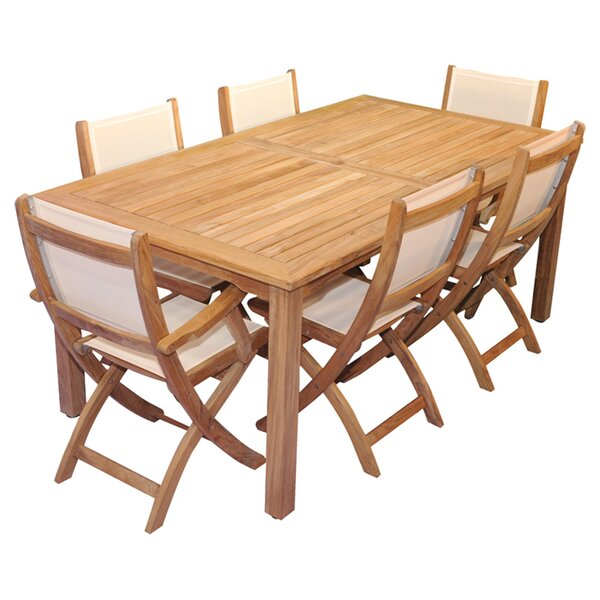 Bloomington 7 Piece Teak Dining Set with Cushions by Regal Teak