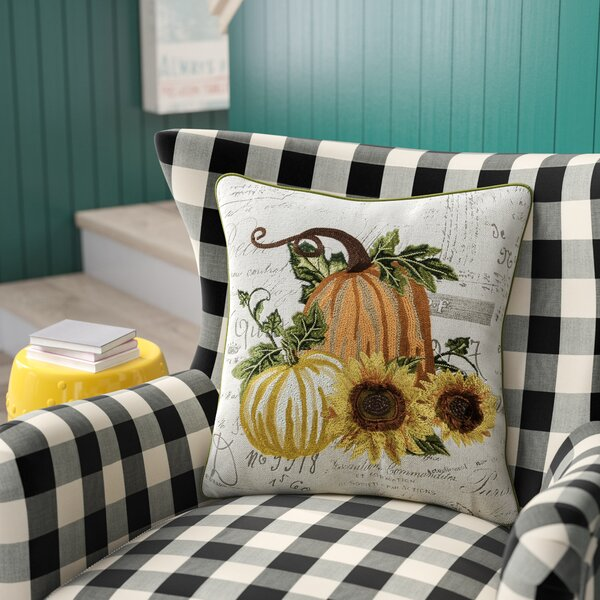 Cory Perfect Fall Pumpkin Throw Pillow by August Grove