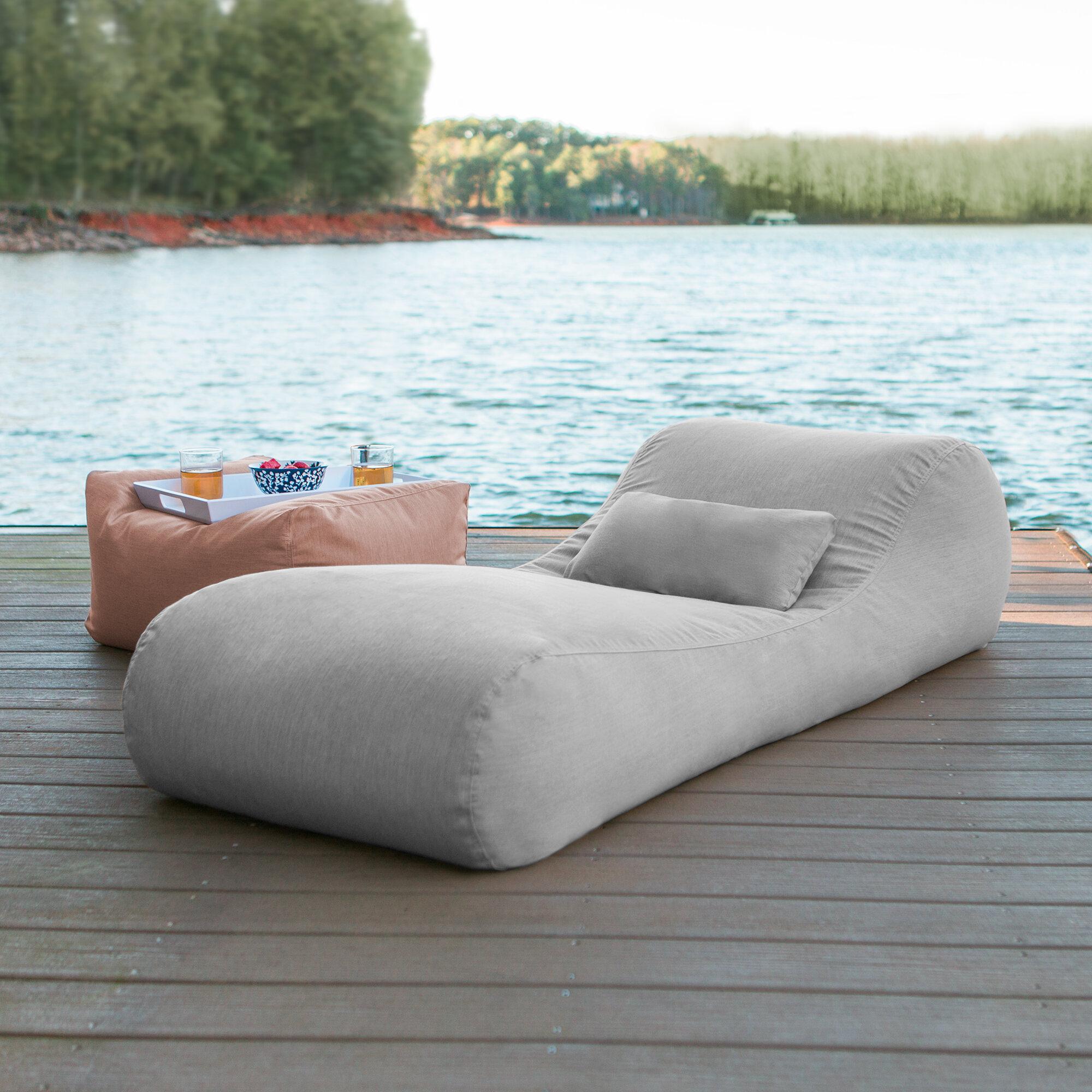Awesome Freeport Park Daisha Outdoor Bag Sun Chaise Lounge With Creativecarmelina Interior Chair Design Creativecarmelinacom