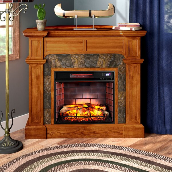 Portola Valley Corner Electric Fireplace by Loon P