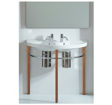 China Series Vitreous China 38 Wall Mount Bathroom Sink with Overflow by Whitehaus Collection