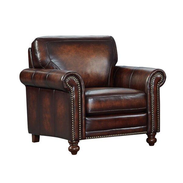 Bach Top Grain Italian Leather Club Chair By Canora Grey