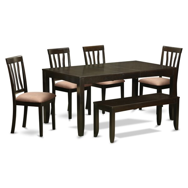 Lockmoor 6 Piece Solid Wood Dining Set by Red Barrel Studio