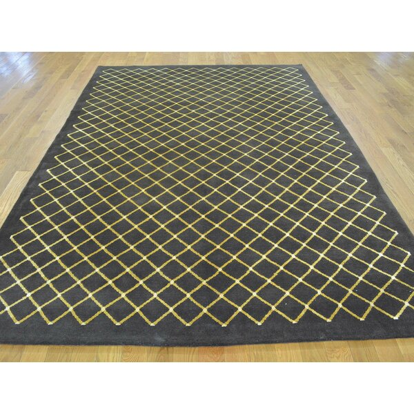 One-of-a-Kind Beverly Hand-Knotted Brown Wool/Silk Area Rug by Isabelline