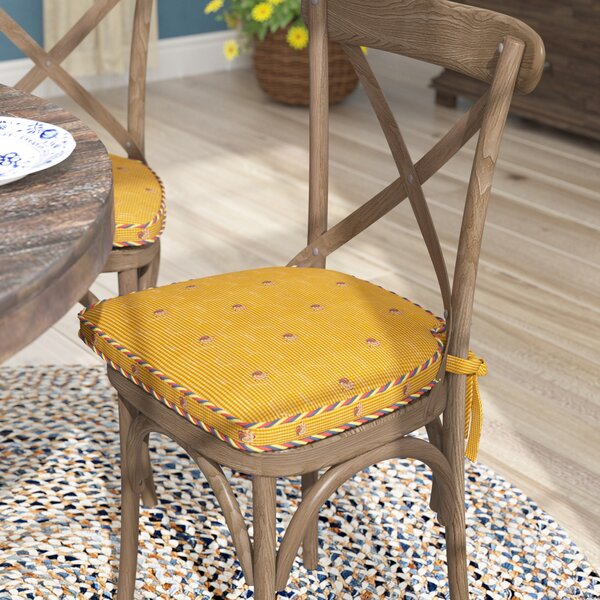 Tailored Indoor Dining Chair Cushion By August Grove.