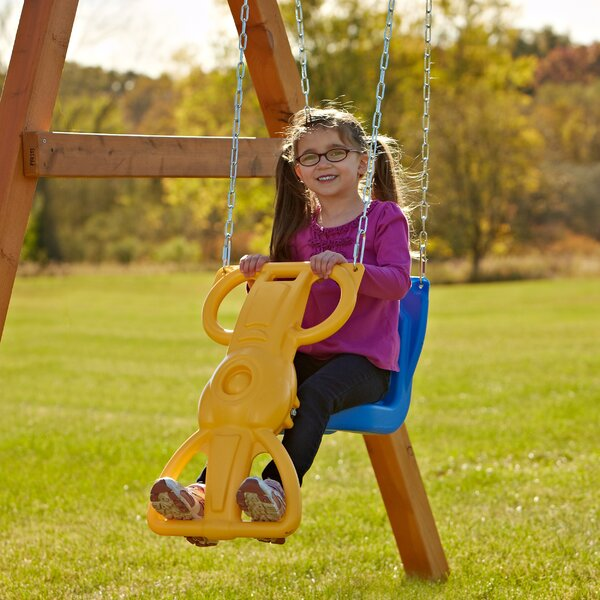 Wind Rider Glider Swing with Chains and Hooks by Swing-n-Slide