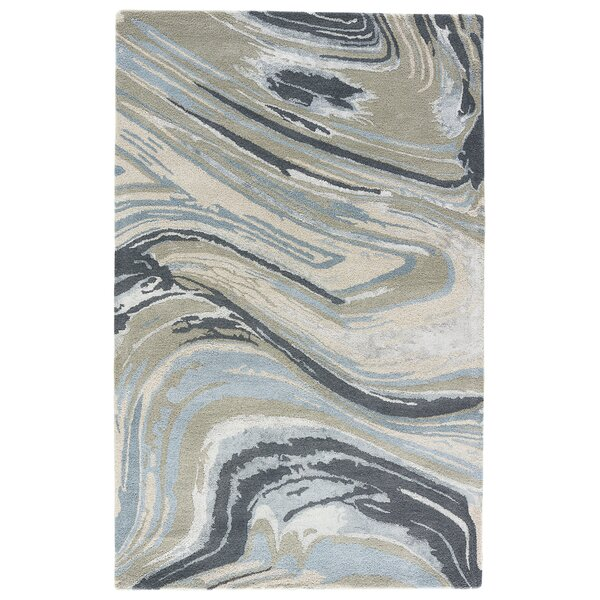 Jaimey Hand-Tufted Iceberg Green/Cement Area Rug by Bloomsbury Market