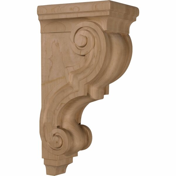 14H x 5W x 6 3/4D Large Traditional Wood Corbel in Red Oak by Ekena Millwork