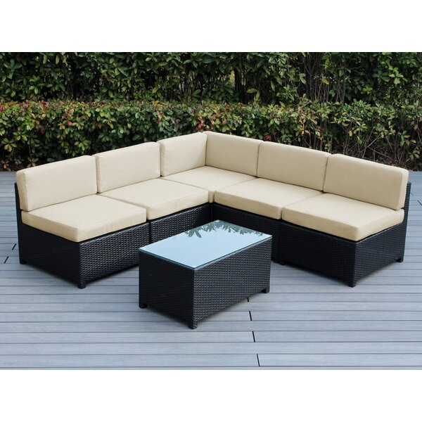 Brough 6 Piece Sectional Seating Group with Cushions by Longshore Tides