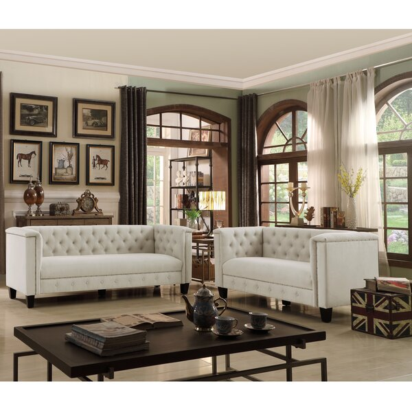 Hillside Chesterfield 2 Piece Standard Living Room Set by Canora Grey Canora Grey