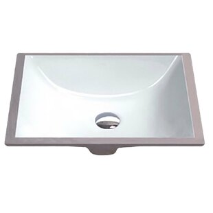 Order Dahlia Series Vitreous China Rectangular Undermount Bathroom Sink with Overflow By ANZZI