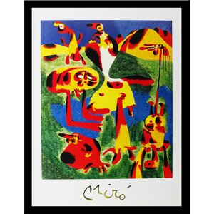 Museum Masters 'Peinture, 1954' by Joan Miro' Framed Painting Print by Buy Art For Less