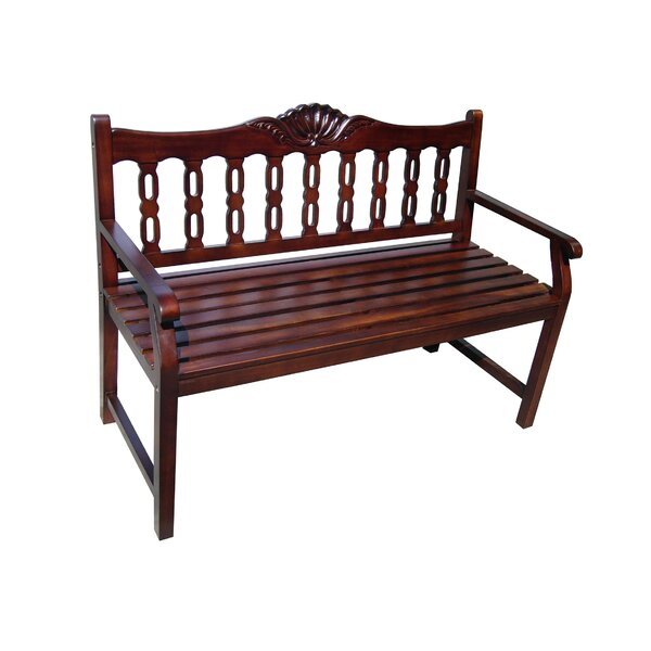 Victoria Shell Wood Bench by D-Art Collection