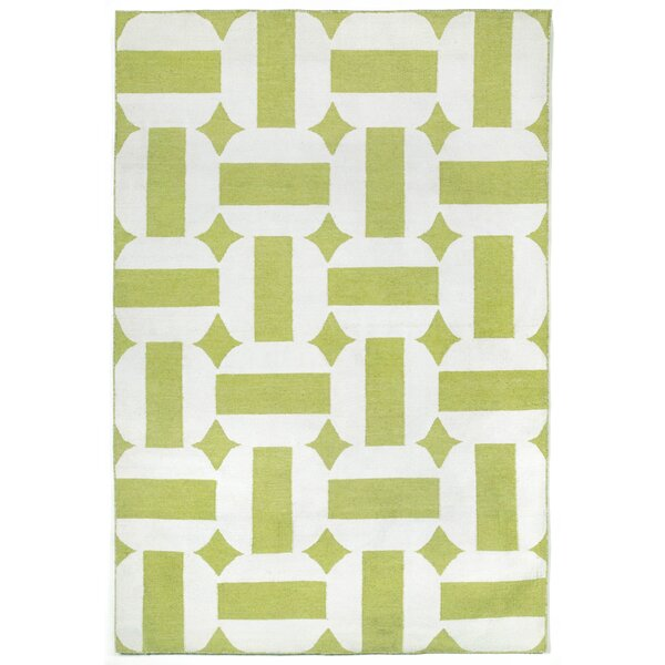Assisi Green Circles Hand Woven Green Indoor/Outdoor Area Rug by Liora Manne