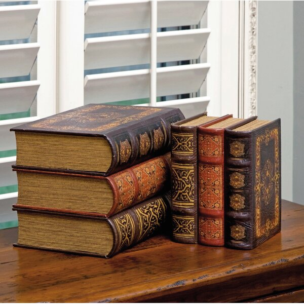 6 Piece Brown Book Box Collection Set by Astoria Grand