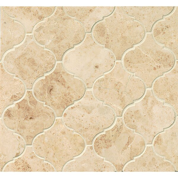 Marble 12.25 x 13.25 Mosaic Tile in Cappuccino by Grayson Martin