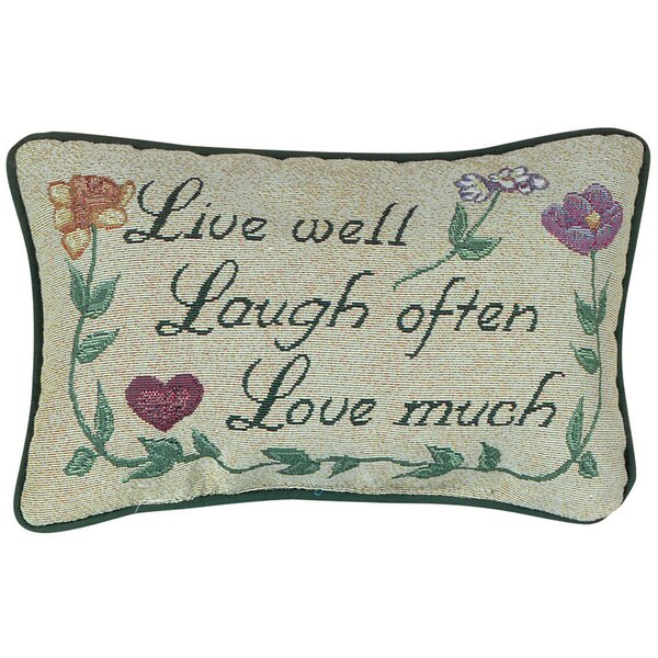 Love Much Word Lumbar Pillow by Manual Woodworkers & Weavers
