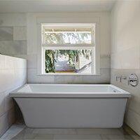 End Drain Freestanding Tub. Save to Idea Board Back Wall Freestanding Bathtubs You ll Love  Wayfair