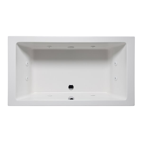 Vivo 66 x 42 Drop in Whirlpool Bathtub by Americh