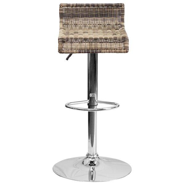 Applewood Adjustable Height Swivel Bar Stool (Set of 2) by Highland Dunes