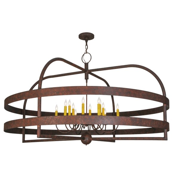 Wolken 12 - Light Candle Style Wagon Wheel Chandelier By 17 Stories