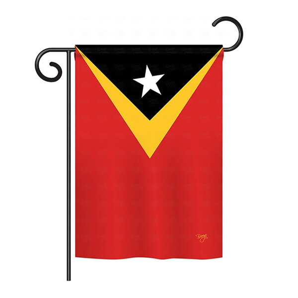 East Timor 2-Sided Vertical Flag by Breeze Decor