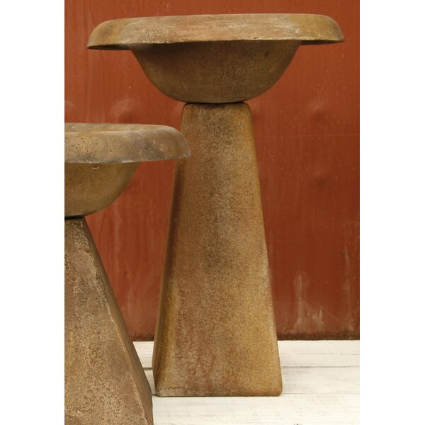 Tall Modern Birdbath by OrlandiStatuary