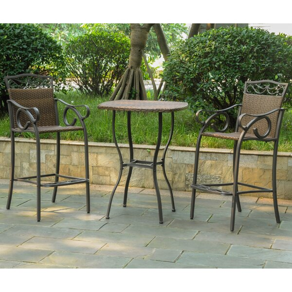 Meetinghouse 3 Piece Bar Height Dining Set by Thre