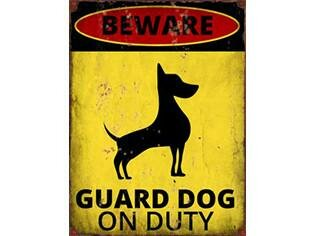 Guard Dog Vintage Metal Wall Décor by Williston Forge