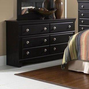 Fralick 6 Drawer Double Dresser