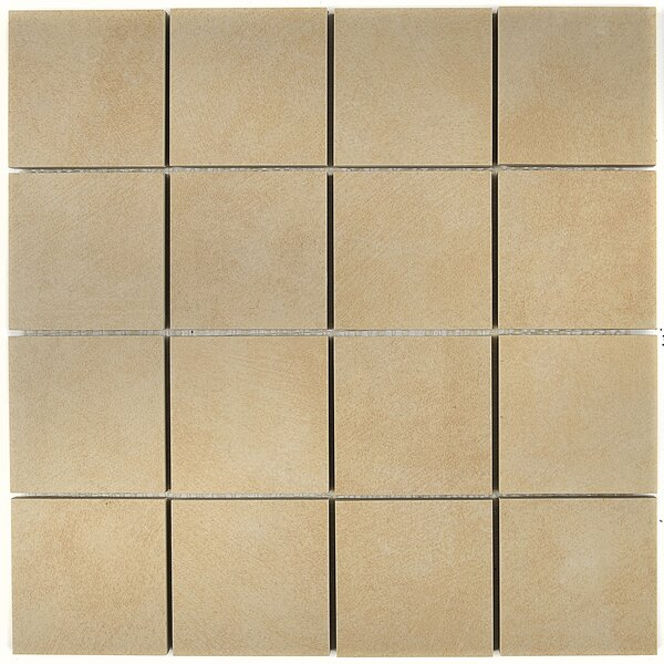 Hampstead 3 x 3 Porcelain Mosaic Tile in Sand by Itona Tile