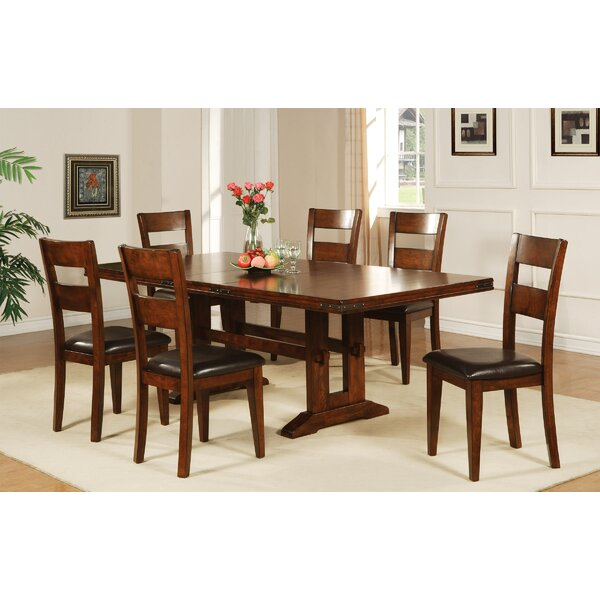 Nashoba 7 Piece Extendable Solid Wood Dining Set By Loon Peak Best
