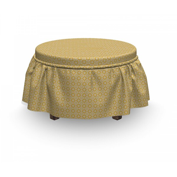Botany Antique Motif Ottoman Slipcover (Set Of 2) By East Urban Home