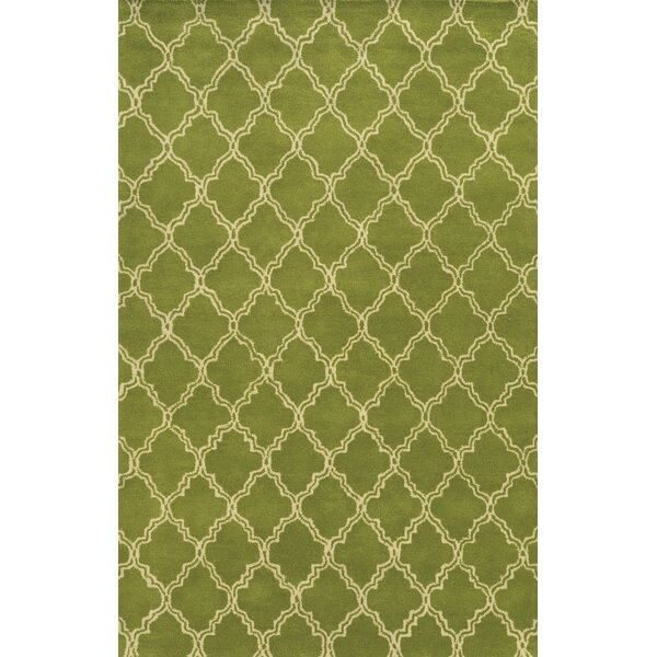 Progreso Hand-Tufted Green Area Rug by Meridian Rugmakers