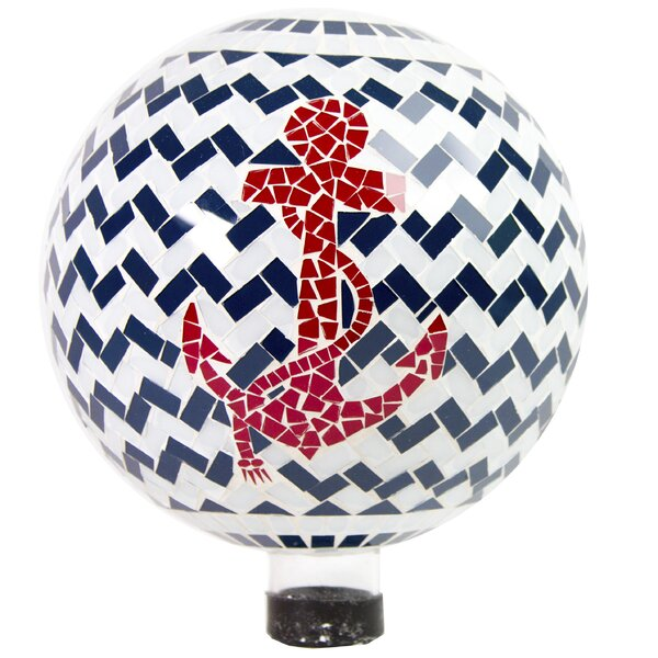 Yandell Mosaic Anchor Gazing Globe by Breakwater Bay