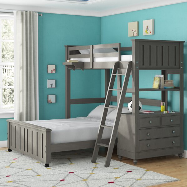 Weatherspoon Full Over Full L-Shaped Bunk Beds with Drawers by Viv + Rae