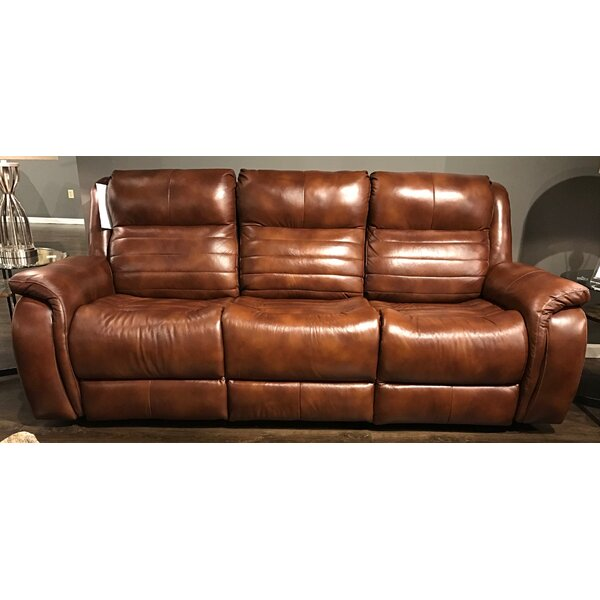 Priced Reduce Essex Leather Reclining Sofa by Southern Motion by Southern Motion